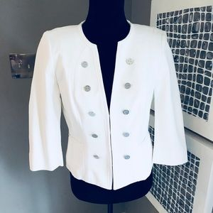 WHBM Adorable Jacket In Almost White with Silver